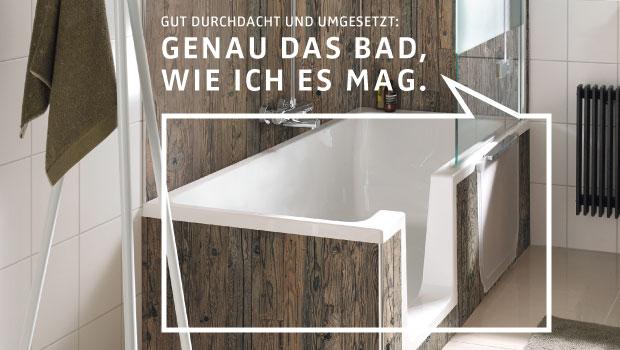 Für die Teilsanierung eines Bades gibt es spezielle Produkte. DIE BADGESTALTER kennen die Neuheiten und bauen sie fachgerecht ein.